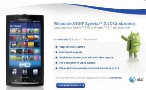 att-xperiax10-update