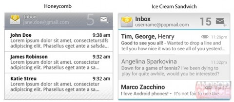 android ics gmail widget not updating