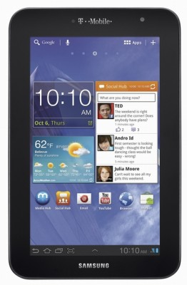 T-Mobile Galaxy Tab 7.0 Plus Front