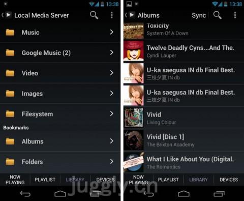 Android端末をネットワークメディアプレイヤー化できるアプリ
