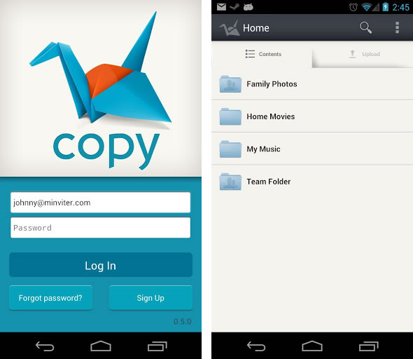 Androidにも対応した新クラウドストレージサービス「Copy」、今なら友達招待プログラムのボーナス容量が5GB