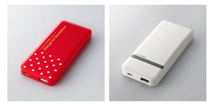 エレコム カラフルでスマートフォンと重ね持ちしやすいモバイル
