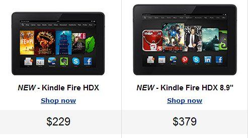 米amazonがkindle fireシリーズ新モデル kindle fire hdx 7インチと