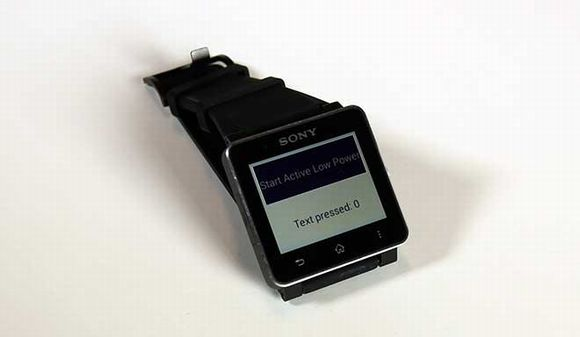 SmartWatch 2アプリで「Active Low Power Mode」を利用するとこんな感じ   ガジェット ...
