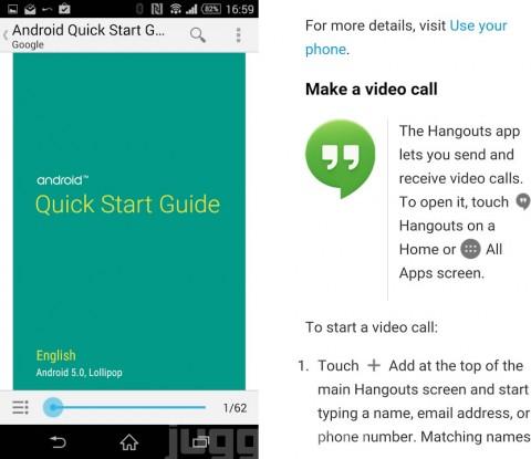Google、Android 5.0(Lollipop)の公式クイックスタートガイド電子書籍版をGoogle Playブックスで無償配布中