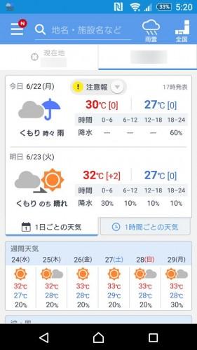 やふー 天気 予報