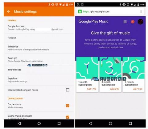海外の Android ユーザーの一部で Google Play ミュージックの聴き放題サービスをプレゼントできる「Music  Gift」機能が有効になっている模様です。