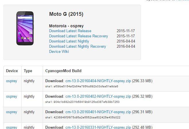 Moto G(3rd Gen)とMoto X Play用のCyanogenMod 13 Nightlyが正式