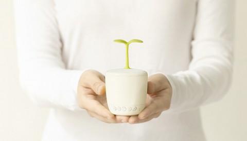 エレス 鉢植えのようなデザインを採用した独創的なbluetoothスピーカー