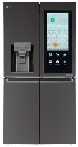 ces 2017 lg amazon alexa lg smart instaview refrigerator. Black Bedroom Furniture Sets. Home Design Ideas