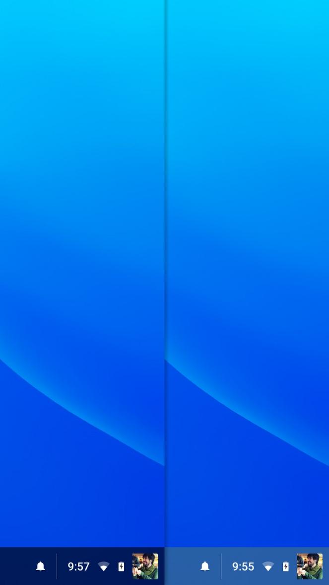 chrome osの最新dev版にシェルフのカラーリングが壁紙によって変化する